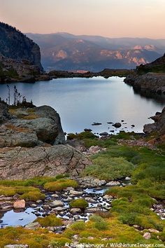 Lake of Glass also called Glass Lake, Rocky Mountain National Park, Colorado