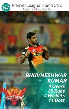 Bhuvneshwar Kumar is back! And he is back in style! He makes it to our Trump Card player for the #GLvSRH match.