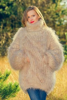 Mohair Yarn, Mohair Sweater, Cardigan Sweaters, Long Cardigan, Turtleneck Outfit, Icelandic Sweaters, Vintage Ski, Pullover, Shawls And Wraps