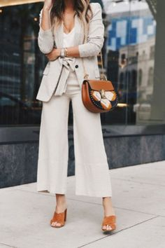 Cute Spring Chic Office Outfits Ideas 14