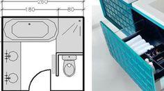 18 plans de salle de bains de 5 à 11 m²