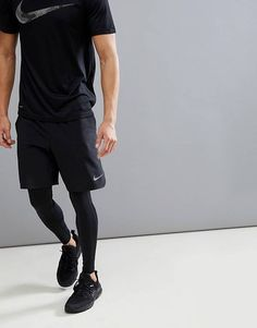 Flex Vent Max 2 0 Shorts In Schwarz - Schwarz - Nike Sweats Mens Athletic Fashion, Athletic Outfits, Sport Outfits, Nike Outfits For Men, Black Outfit Men, Gym Outfit Men, Nike Sweat, Nike Flex, Nike Mode