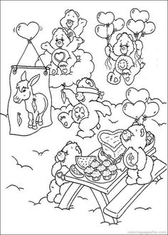 429 Best Care Bears Coloring Pages Stationary Printables Images