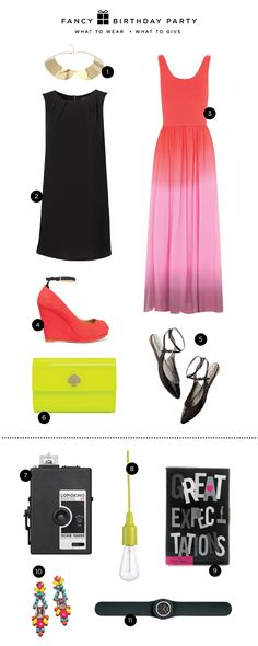what to wear: fancy birthday party at Oh Happy Day... Love the bright wedges... #fashion