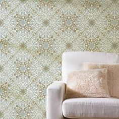 This beautiful Toubkal Lace Allover Stencil is exotic and elegant at the same time. Stencil it in tone-on-tone colors for a delicate lace feel, or paint it in complementing hues for an intricate tile