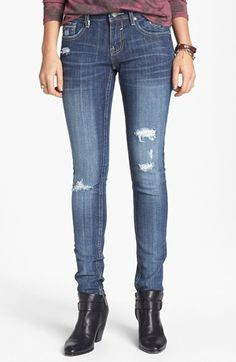 Vigoss Destroyed Skinny Jeans (Medium) (Juniors) | Nordstrom