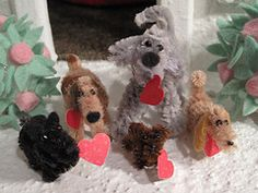 Dogs made from pipe cleaners