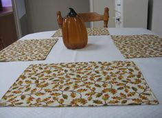Awesome Place Mats, Place Mat, Quilted Place Mat, Padded Place Mat, Reversible Place