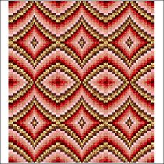 Diamonds Bargello Pattern