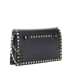 mytheresa.com - Valentino - LEATHER ROCKSTUD CLUTCH - Luxury Fashion for Women / Designer clothing, shoes, bags