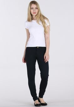 CLEAN BLACK MID WAIST JEGGINGS
