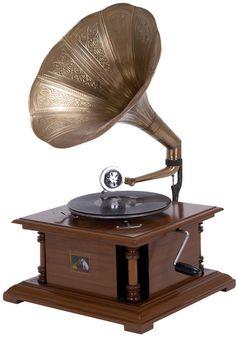 "UMA Inc Wd Mtl Gramophone 28""H, 18""W"
