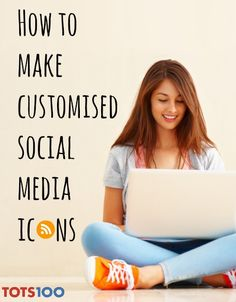 How to make customised social media icons #socialmediaicons #bloggertips #blogicons