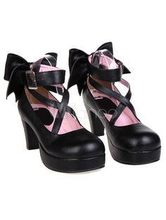 Chaussures de lolita unicolore plate-forme - Milanoo.com