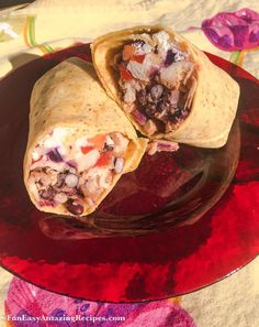 Spicy Chicken Burritos - Spicy Chicken Burritos that are big on flavour and easy on your waistline!