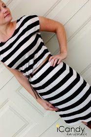 Kleid zum selber nähen. Man muss keine Maße nehmen, sondern nutzt seine Lieblingsklamotten zur Vorlage!