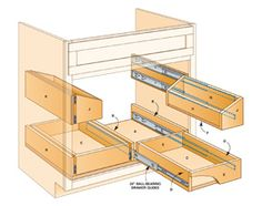 Build these handy undersink roll-out trays in a weekend. You can tackle this project with simple carpentry tools and some careful measuring.  You can make all the trays in an afternoon using building products from your local home center or hardware store for as little as $80. *My husband made this for me for Mother's Day this year and I couldn't be happier, I love great organization!*