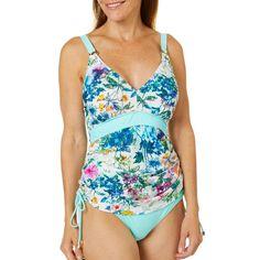 946f8545de2 Gloria Vanderbilt Womens Watercolor Floral Tankini Top