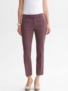 10 Printed Pants We Love: Hampton Fit Bold Print Crop, $89.50, Banana Republic.