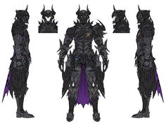View an image titled 'Dark Knight Art' in our Final Fantasy XIV: Stormblood art gallery featuring official character designs, concept art, and promo pictures. Final Fantasy Xiv, Fantasy Armor, Dark Fantasy Art, Fantasy Character Design, Character Design Inspiration, Character Concept, Character Art, Knight Art, Dark Knight