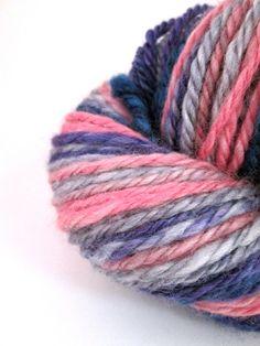 Handspun Yarn 3 Ply Superwash BFL Wool 96 Yards by KashasKnits