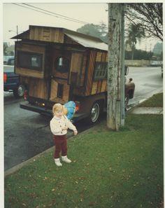 Very Nice Homemade Camper on Old Pickup Truck, Vintage Color Photo | eBay