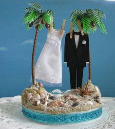 Seahorse Wedding Cake Topper-Kissing Seahorse Couple-Beach Themed ...