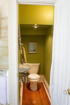 The 138 best bathroom under stairs ideas images on pinter Tiny Half Bath, Tiny Bath, Half Baths, Bathroom Under Stairs, Downstairs Bathroom, Bathroom Small, Home Design, Design Ideas, Interior Design