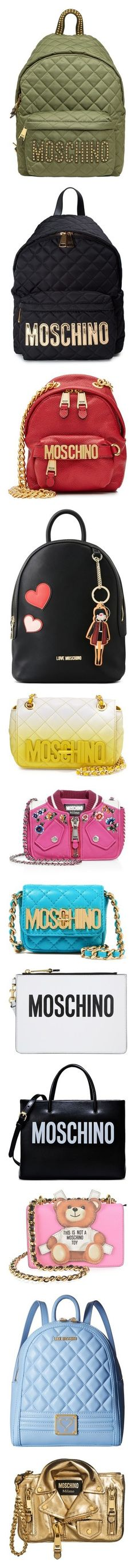 """""""MOSCHINO"""" by sweetika ❤ liked on Polyvore featuring bags, backpacks, accessories, khaki, green backpack, studded backpack, moschino, backpack bags, moschino bags and nero"""