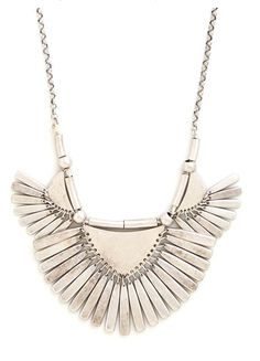 The Rule of Thirds Necklace is a geometric metallic stunner!
