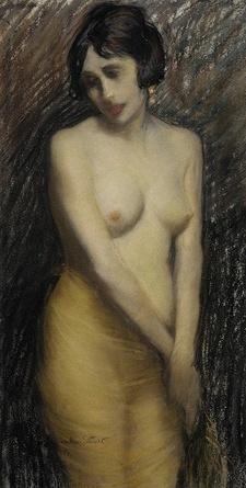 The Yellow Shawl 1916 Janet Agnes Cumbrae-Stewart (1883-1960) Australia