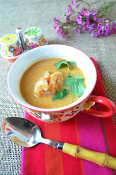 Entertaining From an Ethnic Indian Kitchen: Shrimp-Coconut Soup