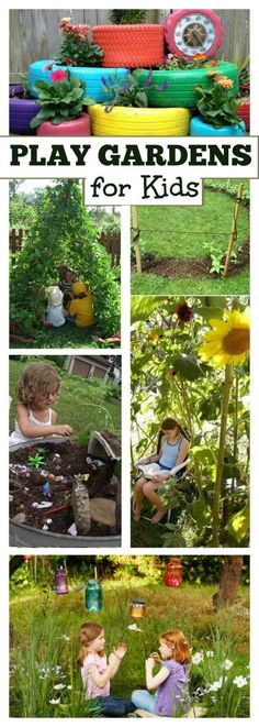 20+ PLAY GARDENS FOR KIDS- super cute ideas here!