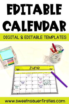 Are you looking for a new yearly calendar? This teacher calendar will help you keep organized and planned all year long. This monthly calendar set includes both print and digital options.You can edit this calendar template with Google Slides. This teacher calendar is great for back to school to help you get organized for the year. This printable and digital calendar comes in color and black and white.