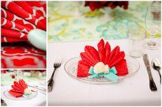 Fold a Fancy Napkin DIY: Princess folded napkin
