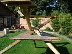 Climbing frame for #cats made with Jacksons products | Customer Project http://www.jacksons-fencing.co.uk/News/customer-projects/a-most-unusual-object-made-using-jacksons-materials-6239.aspx?agid=597 #cats #play #climbing #frame