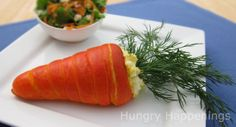 Hungry Happenings: Fun idea for an Easter Brunch - Carrot Crescents Filled with Egg Salad. Carrot Crescents filled with your favorite egg or ham salad. Easter Dinner Recipes, Easter Brunch, Holiday Recipes, Holiday Ideas, Sunday Brunch, Brunch Recipes, Breakfast Recipes, Easter Salad, Easter Food
