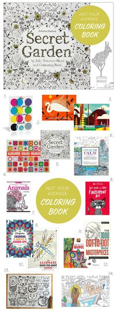 """A wonderful list of """"outside the box"""" coloring books..."""