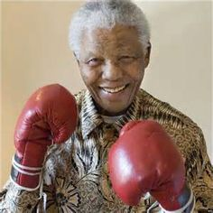 My favorite picture of Nelson Mandela.