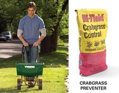 Apply a Preemergent Herbicide - The easiest way to stop crabgrass is to nail it before it starts growing. Apply a preemergent herbicide after your second mowing in the spring. Crabgrass grows from seeds scattered in previous years. The herbicide keeps those seeds from germinating. The seeds may remain viable for several years, so it's best to apply herbicide every spring. One springtime application will vastly reduce the need to attack crabgrass later in the year once it has sprouted.