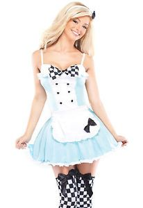 Image is loading Sexy-Adult-Halloween-Coquette-Womens-Alice-in-Wonderland-