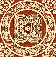 medieval tile labyrinth - Google Search