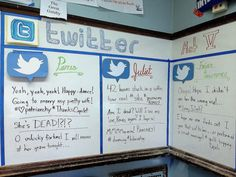 Sarah Varland uses Twitter to show multiple character perspectives from the same play in her 9th grade classroom at Schurz High School, 2014. No tech? No problem. Even if you're teaching in a low-t...