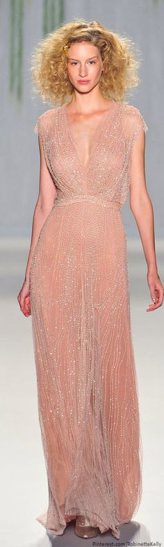 Jenny Packham | S/S 2014- It would be nice to see this on someone who's skin wasn't so close to the color of the dress :(