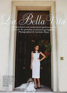 """La Bella Vita"": Dasha Malygina Has an Aristocratic Christmas shot by Carolotta Moya for Australian Vogue"