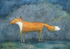 Fox Art Print by BearsGetCrafty on Etsy
