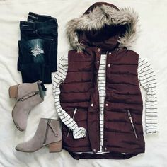winter outfits vest Vest for a fall outfit - Milad - winteroutfits Fall Winter Outfits, Winter Wear, Autumn Winter Fashion, Winter Clothes, Women's Clothes, Winter Style, Clothes Shops, Clothes Sale, Casual Clothes