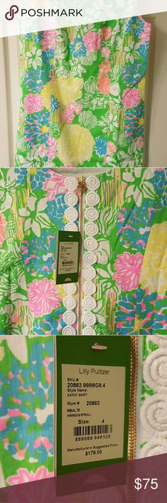 NWT Size 4 Hibiscus Stroll Cathy Dress Beautiful NWT Hibiscus Stroll Cathy Dress size 4. Runs big. I need a 2. Lilly Pulitzer Dresses Mini