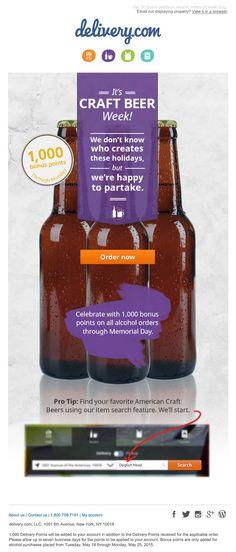 DeliveryCom Craft Beer email