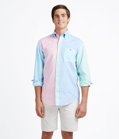 Men's Sport Shirts: Oxford Party Tucker Shirt for Men - Vineyard Vines